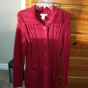 Long red sweater Junior L